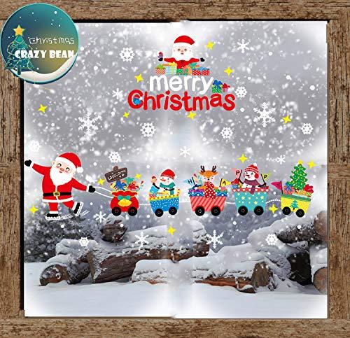 Adesivi Per Finestre Di Natale Adesivi Per Finestre Adesivi Natalizi Fiocchi Di Neve Adesivo Statico