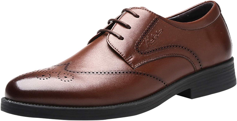 RSHENG Herren Schnürschuhe Bullock Geschnitzt Derby Schuhe Schuhe Atmungsaktiv Business-Kleid Schuhe Hochzeit Schuhe  ausgezeichnete preise