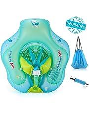 浮き輪 ベビー Delicacy 赤ちゃん うきわ リング 6ヶ月~30ヶ月適用 水遊び 水泳 プール おふろおもちゃ ハンドポンプ付き