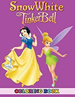 Snow White and Tinkerbell Coloring Book: 2 in 1 Coloring Book for Kids and Adults, Activity Book, Great Starter Book for Children with Fun, Easy, and Relaxing Coloring Pages