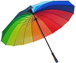 Zamkar Trades Stylish Lightweight Colorful Rainbow Umbrella for Rain and Photography (Big Size)