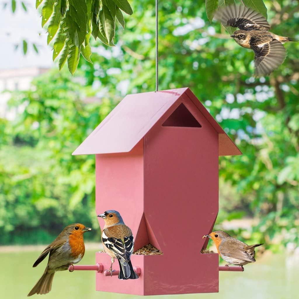 TZSMWSQ Bird Feeding Station House Wild Outdoor Feeder New Shipping Free half