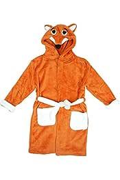 Morbido Pile Accappatoio Tigro Personaggi da Camera Lovelegis Tigre Bambino Arancione Vestaglia Pigiama Notte con Cappuccio