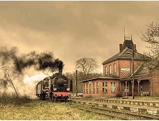 Wee Blue Coo Old Retro Steam Train Locomotive Engine Unframed Wall Art Print Poster Home Decor Premium