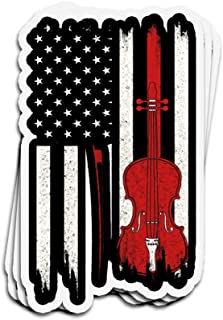Jarky Love 3 PCs Stickers Cello American Flag Cello 4 × 3 Inch Die-Cut Wall Decals for Laptop Window