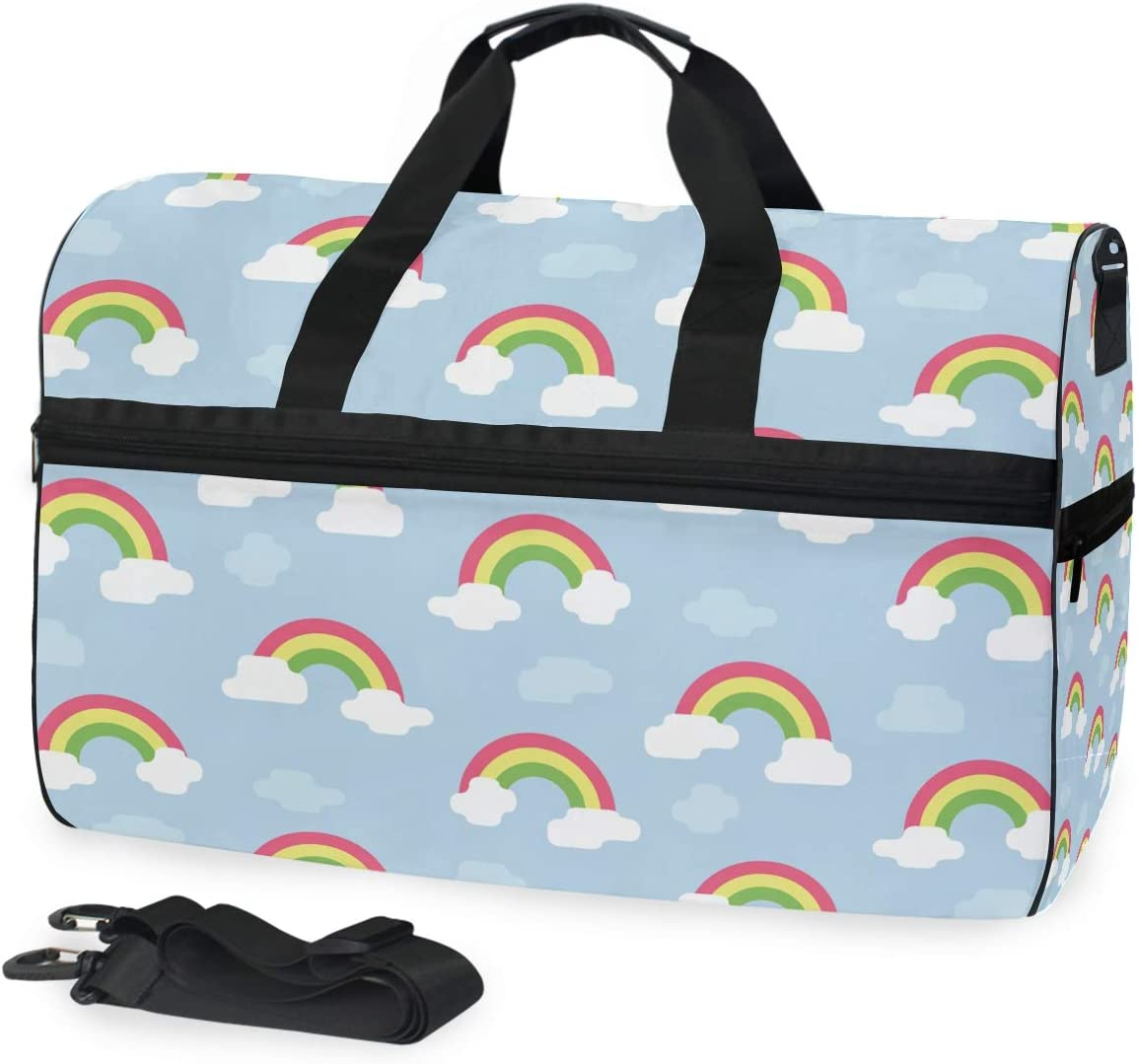 Sports Ranking TOP12 Swim Gym Bag with Shoes Tucson Mall Blue Week Rainbow Compartment Art