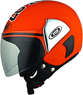Studds Cub 07 SUS_C07OFH_OREL Open Face Helmet (Orange, L)