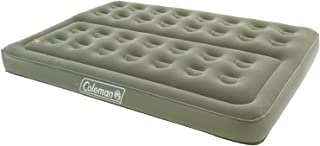 Coleman Comfort Double Flocked Surface Inflatable Camp Air Bed - Green, 188 x 137 x 22 cm