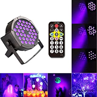 Indoor RGB Color Changing Landscape Lights, Remote Control 36 LED Par Light Purple Decorative Lights for The Courtyard Wall Stage Christmas Lights