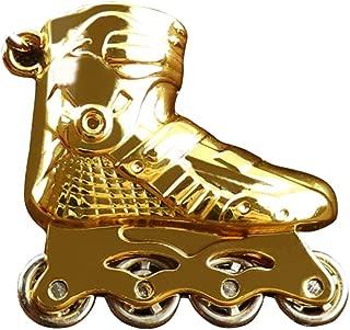 Sanwooden Cute Keychain Mini Roller Skates Charm Pendant Car Keychain Key Ring Holder Bag Ornament Gift Girl Fashion Accessories