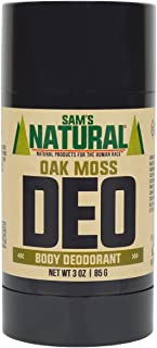 Sam's Natural Deodorant Stick - Oak Moss, Aluminum Free, Vegan, Cruelty Free, 3 oz