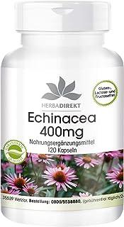 Equinácea 400mg – Echinacea purpurea – Altamente dosificada y vegana – 120 cápsulas