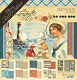 Graphic 45 4501832 by The Sea Deluxe Collector's Edition Paper Pack, Multi