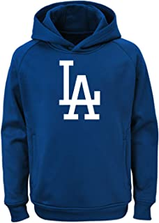 MLB Kids 4-7 Team Color Polyester Performance Primary Logo Pullover Sweatshirt Hoodie