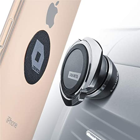 Cell Phone Holder for Car Dashboard - iPhone Car Mount Compatible with Any Smartphone or GPS - Universal Auto-Grip Car Phone Mount Magnetic