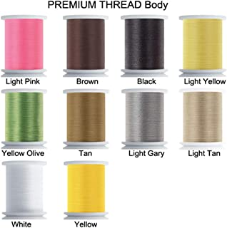 Riverruns Super Realistic Standard Thread 3/0,6/0,8/0,Twisted Thread, Body Thread Fly Tying Material Proudly from Europe T...
