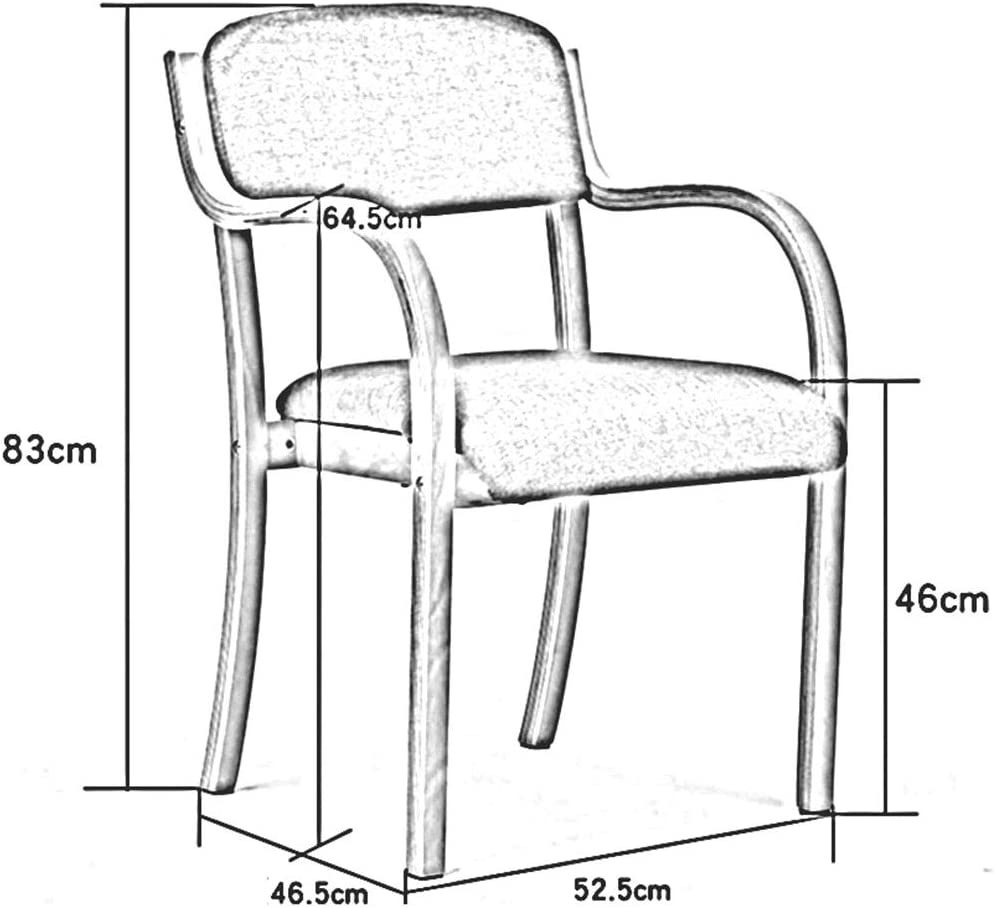 DALL Chaise De Salle à Manger en Bois Massif,Chaise De Table avec Bras,Siège De Couverture De Lin,Chaise De Réception De Bureau,Facile à Assembler,52,5 X 46,5 X 83 Cm(Color:T7) T7