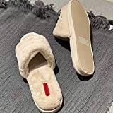 ypyrhh Mujer Hombre Invierno Cálido Pantuflas,Soft Cute Healing Cotton Slippers, Fashionable Home Slippers-Beige_36/37