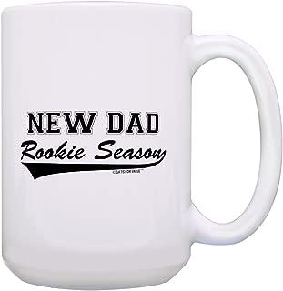 New Dad Gifts Rookie Season New Dad Mug Pregnancy Announcement Dad Birthday Gifts Expectant Father Mug Gift 15-oz Coffee Mug Tea Cup 15 oz White