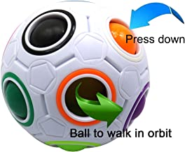 FC MXBB Fidget Ball Fidget Cube Intelligence Rainbow Magic Ball Cube 3D Puzzle Football Design Fidget Toy