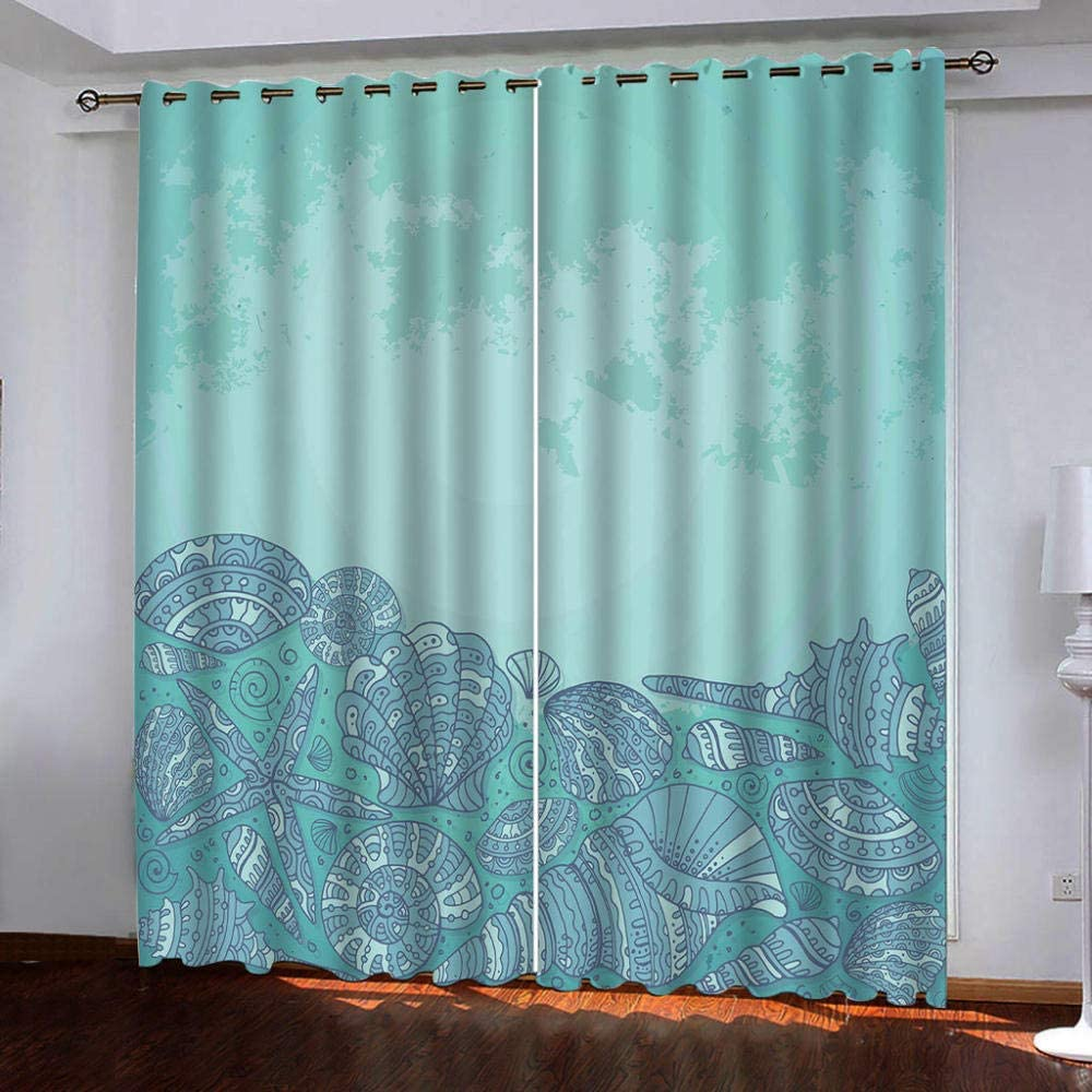 Thermal Blackout Curtain Blue Pattern 85 of Super popular specialty Rapid rise store 2 Inches Long B Set