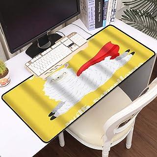 Luoquan Alfombrilla Raton Grande Gaming Mouse Pad,Llama Alpaca No Hay Problema con Superlama Saltando con Capa roja Capa F...
