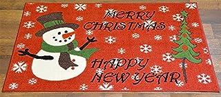Homie Design Felpudo de Navidad lavable, antideslizante, rectangular, diseño de Navidad Nowman, alfombra de baño, no infla...