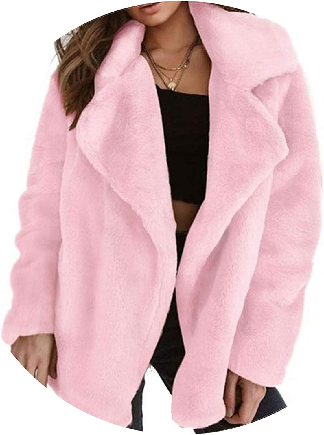 Henraly Faux Fur Coat Coats and Jackets Women Winter Warm Soft Fur Jacket Plush Overcoat