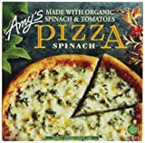 Amy's Frozen Spinach Pizza, Hand-Stretched Crust, 14-Ounce