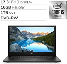 "$749 » Dell Inspiron 17 3793 2020 Premium 17.3"" FHD Laptop Notebook Computer, 10th Gen 4-Core Intel Core i5-1035G1 1.0 GHz, 16GB RAM, 1TB SSD, DVD,Webcam,Bluetooth,Wi-Fi,HDMI, Win 10 Home"