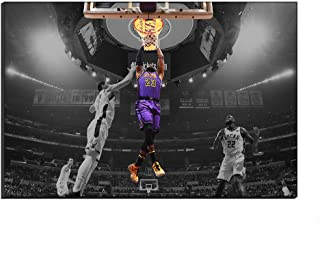 lebron james dunk on lakers