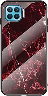 Marble Case for Oppo F17/Oppo A73 Marble Clear Tempered Glass Case Soft Silicone Phone Cover Compatible with Oppo F17/Oppo...