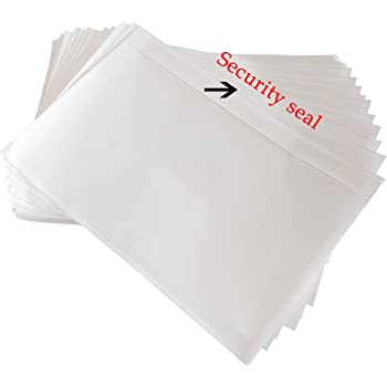 "SJPACK 7.5"" x 5.5"" Clear Adhesive Top Loading Packing List, Label Envelopes Pouches - 100 Packs"