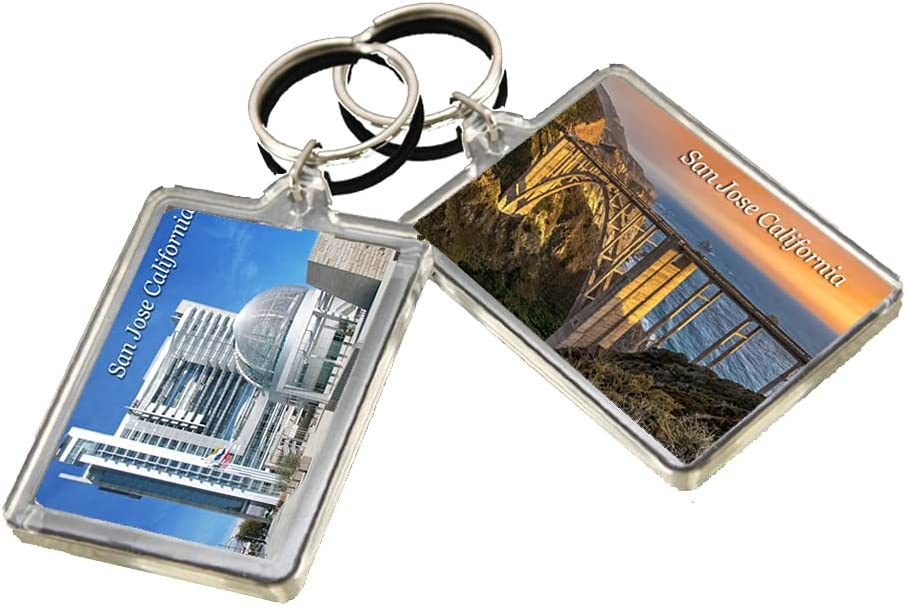 KR025 San Jose California City Keychain United States Travel Photo Keyring