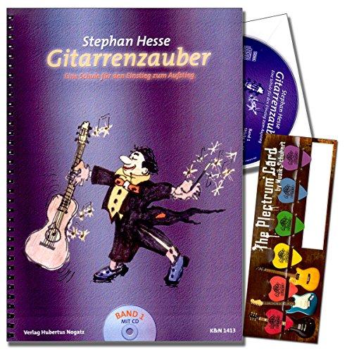 Gitarrenzauber Band 1 - Gitarrenschule von Stephan Hesse für Kinder ab 5 Jahren mit CD und Dunlop Plektrum SET - als Geschenkidee hervorragend geeignet (Platz für eine individuelle Grußnachricht)