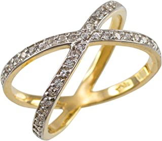 Fine 14k Yellow Gold Diamond-Accented Double