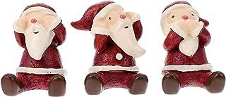 POPETPOP 3 Sztuk Mini Boże Narodzenie Santa Claus Ozdoby Nie Słyszeć Żadny Zły Nie Zobacz Żadny Zły Nie Mów No Santa Figur...