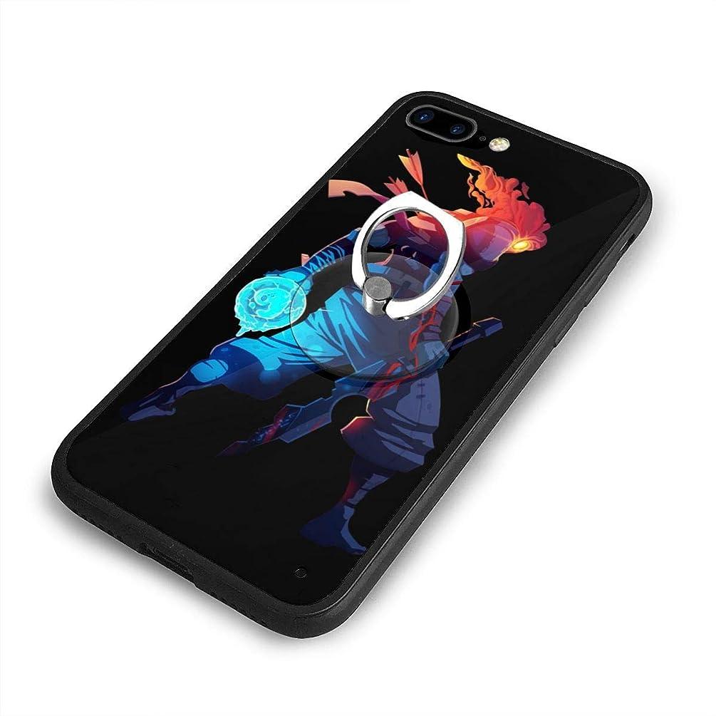 契約した住人引き潮Leasan Dead Cells iPhone 7/8 Plusケースリングブラケット 携帯カバー 創意デザイン軽量 傷つけ防止 360°回転ブラケット 携帯ケース PC 衝撃防止 全面保護
