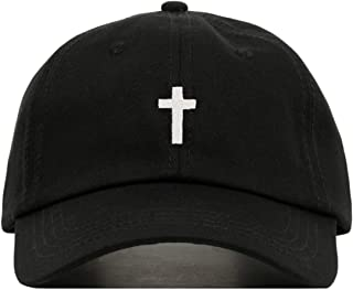 Cross Baseball Hat, Embroidered Dad Cap, Unstructured Soft Cotton, Adjustable Strap Back (Multiple Colors)