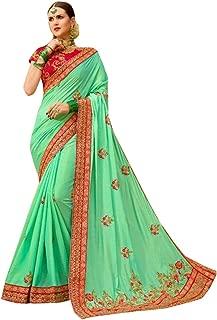 Party wear Gorgeous colour combination saree with blouse ethnic indian wrap dress sari 7376
