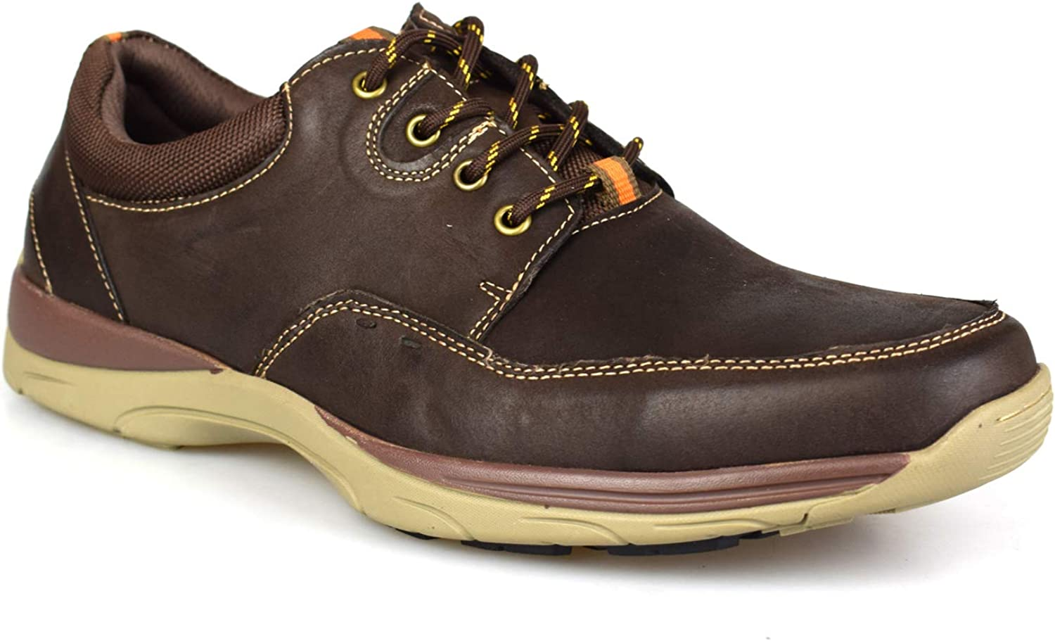 Catesby Mens Casual Brown Leather shoes BD171883