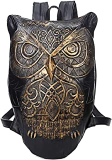 GYNSSJBB Stylish 3d Funny Animal Head Bag, Printed Leather Waterproof and Anti-theft Backpack, Large Capacity Ultra-light Backpack, Suitable for Both Men and Women, Suitable for Travel, Shopping, Gift
