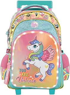 Mochilas Escolares para Niñas | Mochila con Carrito para Infantil y Preescolar | Varios Compartimentos | Unique con Ruedas y Luces Led