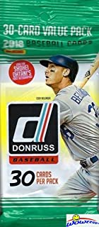 2018 Donruss Baseball Factory Sealed JUMBO FAT PACK with 30 Cards including EXCLUSIVE Retro 1984 HOLO BLUE PARALLEL! Look for Autographs of Shohei Ohtani, Aaron Judge, Derek Jeter & More! WOWZZER!