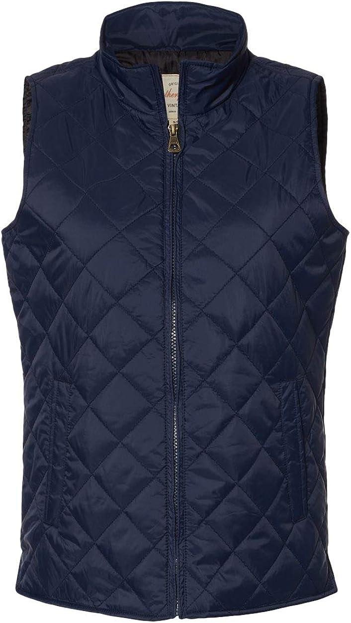 Weatherproof Women's Vintage Diamond Quilted Vest W207359 - Navy Size S