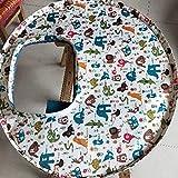 Bebé que come la estera de la tabla de alimentación del bebé cubierta de la silla alta para niños cubierta de la silla alta - Animal Kingdom
