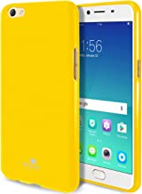 GOOSPERY Marlang Marlang Oppo R9S Case - Yellow, Free Screen Protector [Slim Fit] TPU Case [Flexible] Pearl Jelly [Protection] Bumper Cover for Oppo R9S, OPPOR9S-JEL/SP-YEL