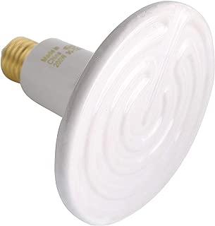 Aomryom 200W Ceramic Heat Emitter Infrared Reptile Heat Lamp Bulb - No Light Emitted No Harm Heater Lamp for Lizard Snake Coop Chicken Tortoise Aquarium Pet Brooder - 24hr Heat Source - White