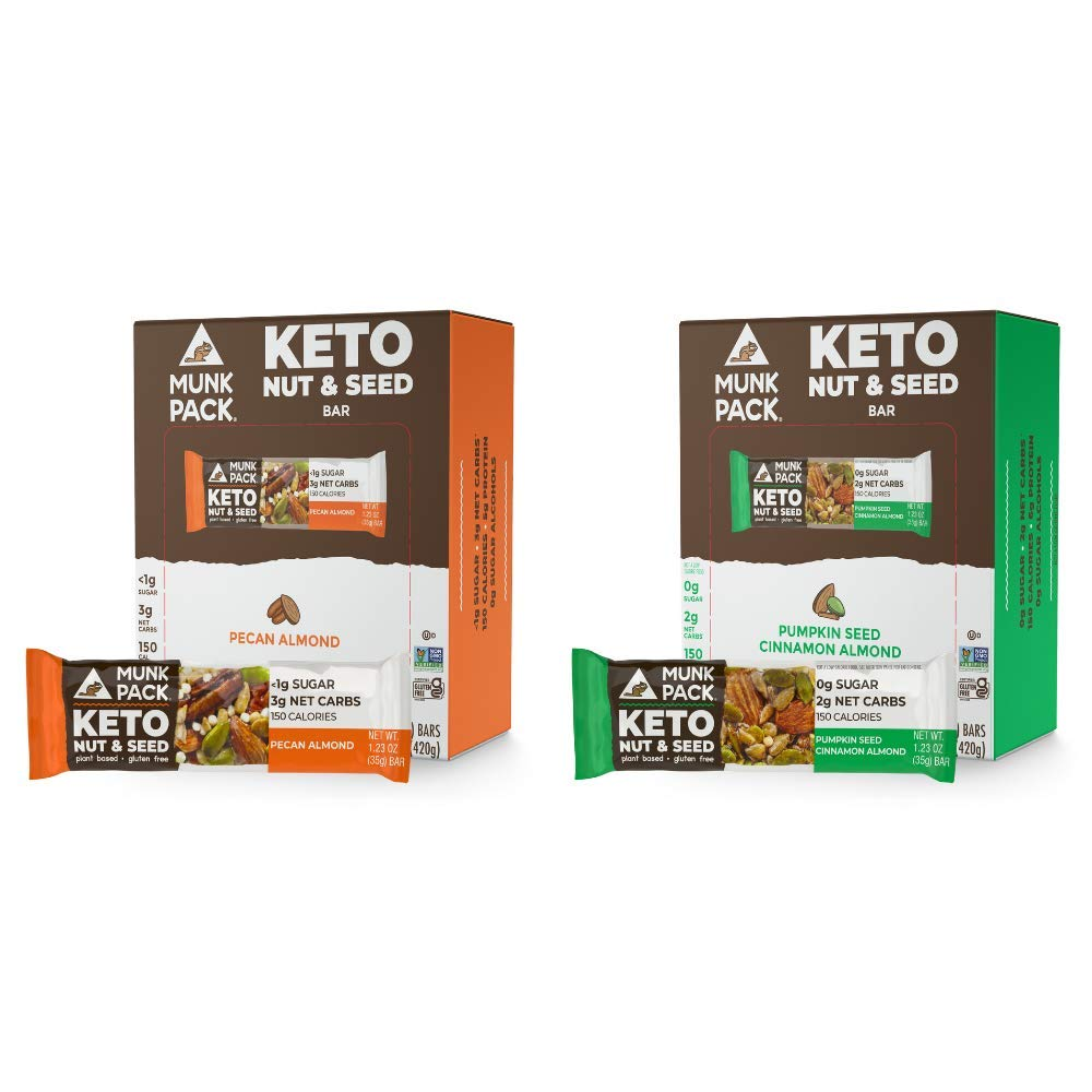 Munk Pack Keto Nut Animer and price revision Seed Max 64% OFF Bars 12 Alm Bundle 24 Pecan
