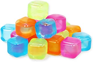 COLIBYOU Reusable Ice Cubes - Colored Plastic Square Ice Cubes for Drinks Cocktails Beer Wine Whiskey Party Favors - Non-D...